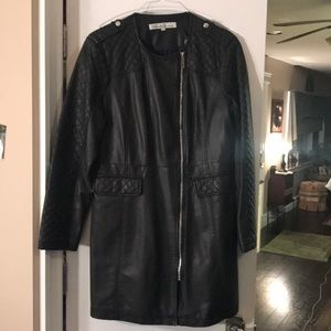 Kenneth Cole faux leather coat.